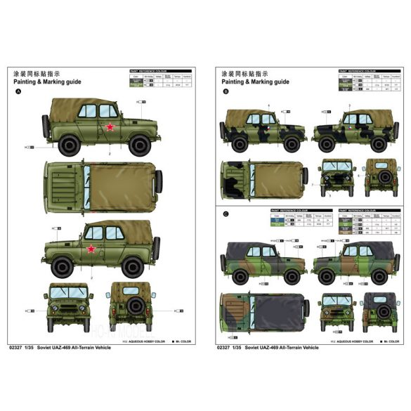 Trumpeter 02327 UAZ-469 Soviet All-Terrain Vehicle