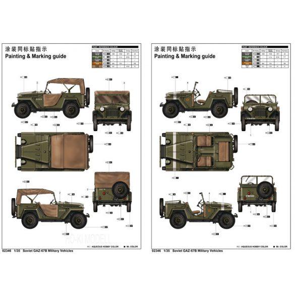 Trumpeter 02346 Soviet GAZ-67B Military Vehicles