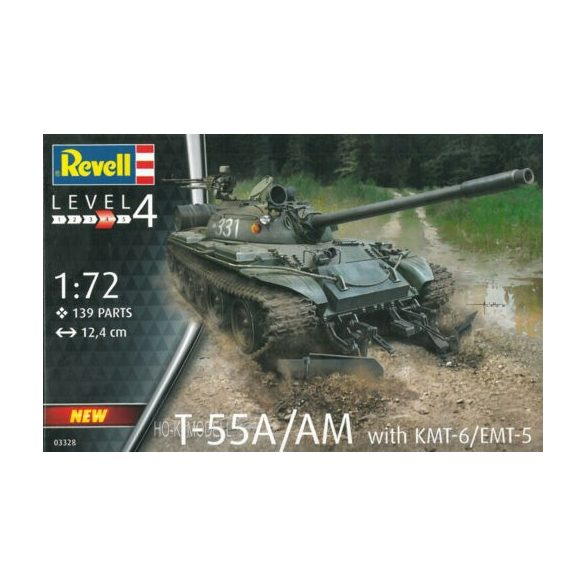 Revell 03328 T-55A/ AM  with KMT-6 EMT-5