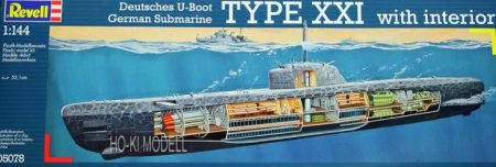 Revell 05078  Deutsches U-Boot Type XXI with interior German Submarine