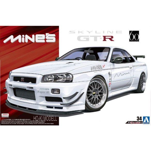 Aoshima 053652 Nissan BNR34 Skyline GT-R '02