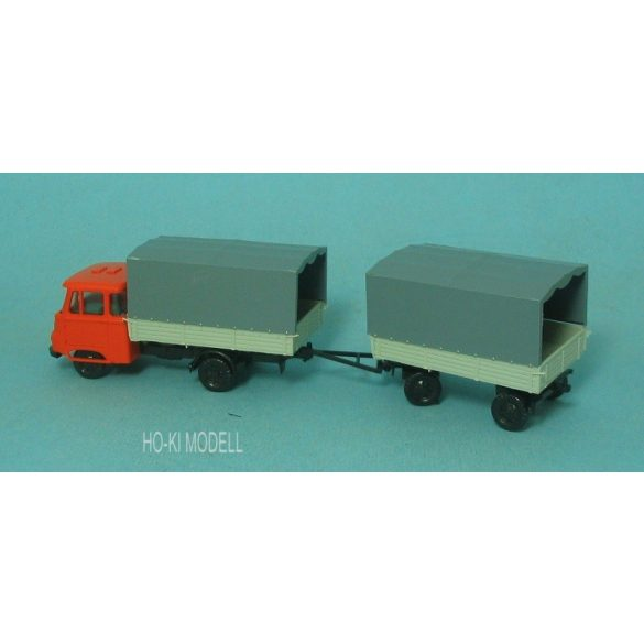 Modelltec Robur LO 2501 Ponyvás Pótkocsis Teherautó
