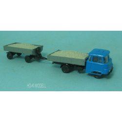 Modelltec Robur LO 2501  Pótkocsis Kőszállítós Teherautó
