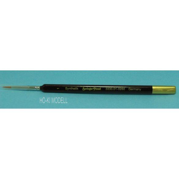 Springer Pinsel 3330 hegyes, finom, aranysárga színű szintetikus német ecset.    Méret: 1