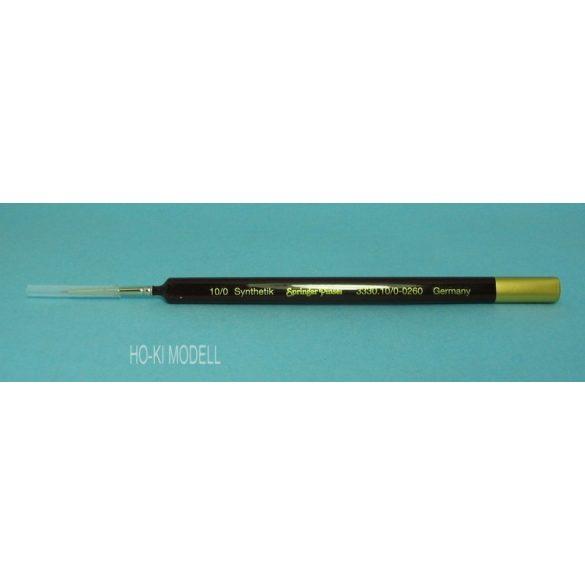 Springer Pinsel 3330 hegyes, finom, aranysárga színű szintetikus német ecset.    Méret: 10/0