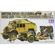 Tamiya 35044 British 25Pdr. Field Gun & Quad Gun Tractor(Canadian Ford F.G.T.)
