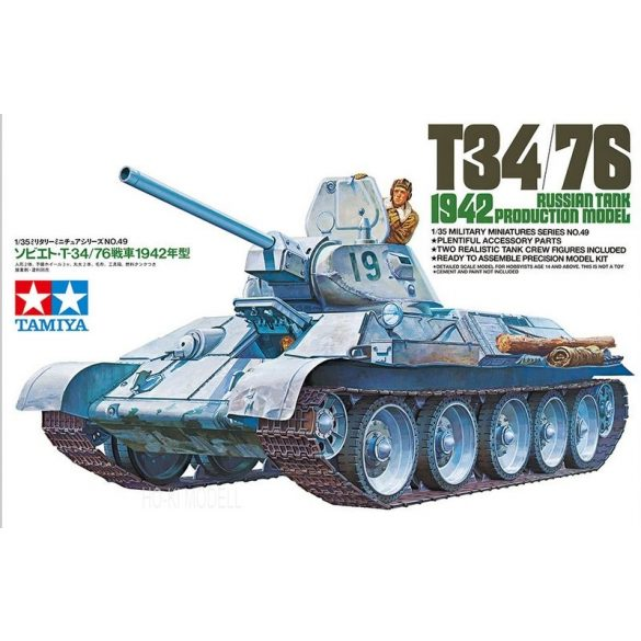 Tamiya 35049 Russian Tank T-34/76 1942 Production Model