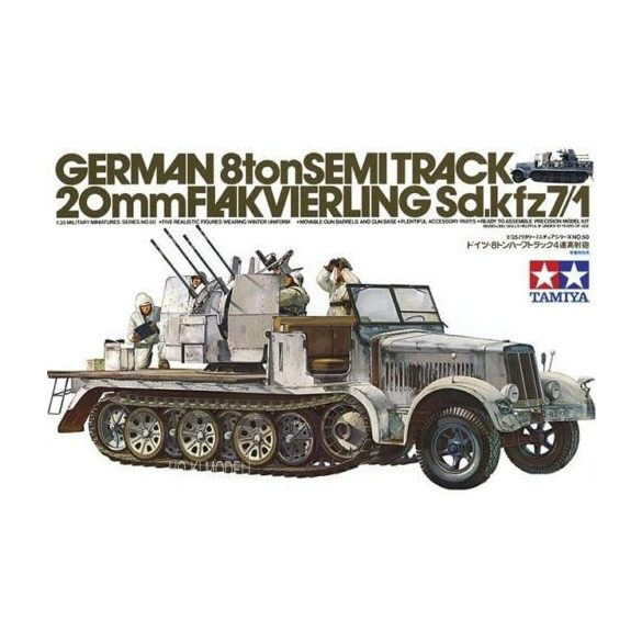 Tamiya 35050 German 8Ton Semi-Track 20mm Flakvierling Sd.kfz 7/1