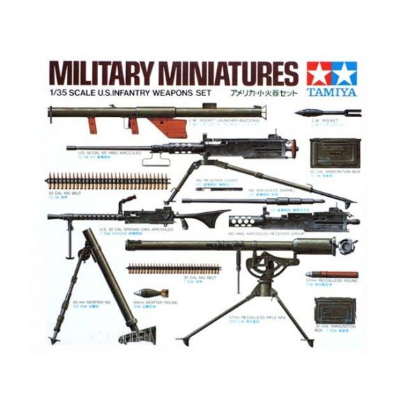 Tamiya 35121  U.S. Infantry Weapons Set