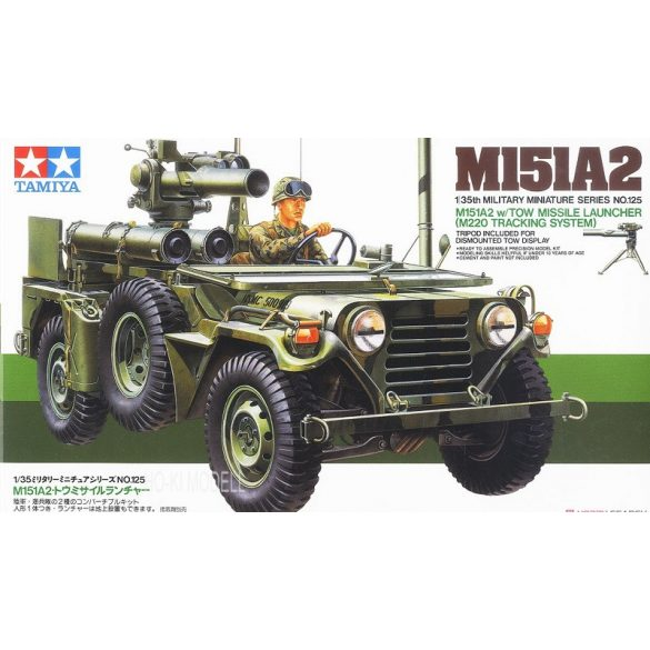 Tamiya 35125 U.S. M151A2 W/Tow Missile Launcher