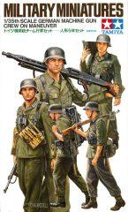 Tamiya German Machine Gun Crew On Maneuver