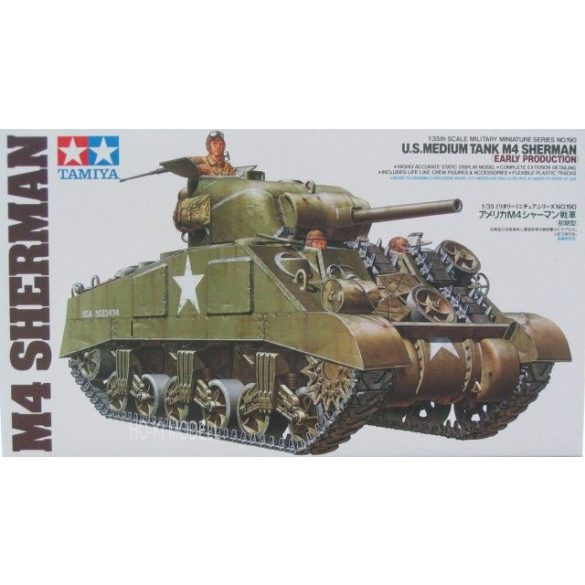 Tamiya 35190  M4 Sherman US Medium Tank Early Production