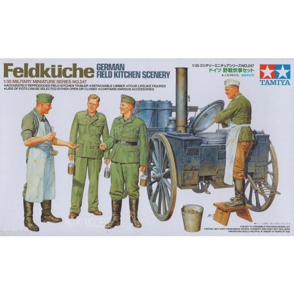 Tamiya 35247 WWII German Field Kitchen Scenery - Tábori Konyha