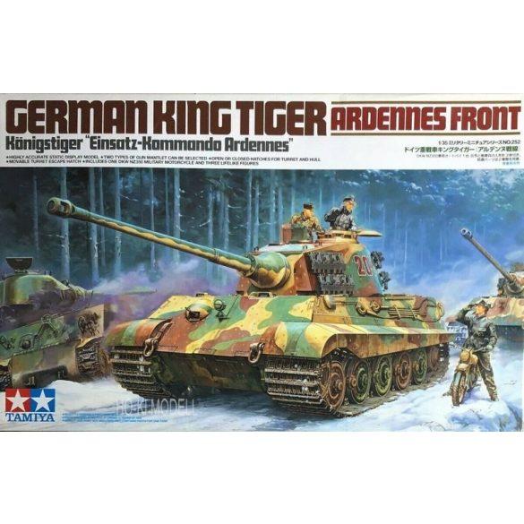 Tamiya 35252 German Tiger II -  King Tiger - Ardennes Front w/ Motorcycle &Rider