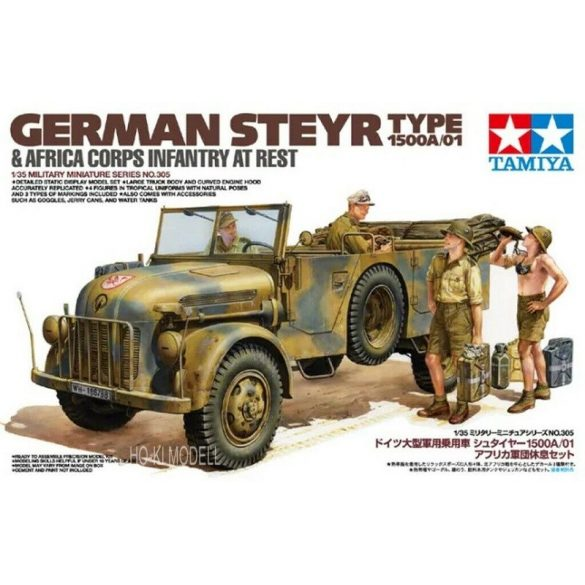Tamiya 35305 German Steyr Type 1500A/01 Africa Corps Infantry at Rest