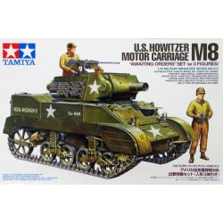 """Tamiya 35312 US Howitzer Motor Carriage M8 """"Awaiting Orders"""" Set"""