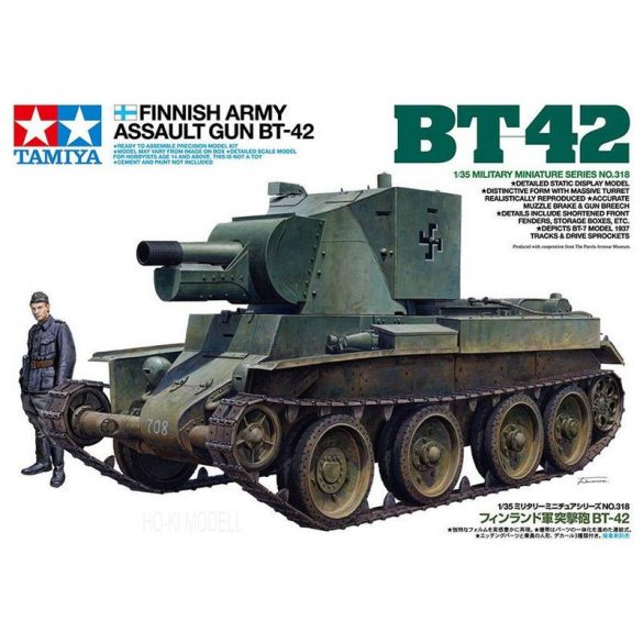Tamiya 35318 Finnish Army Assault Gun BT-52 Tank