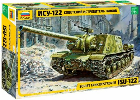 Zvezda 3534  ISU-122 Soviet self-propelled gun