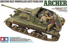 Tamiya 35356 British Self-Propelled Anti-Tank Gun ARCHER w/ 3-figure