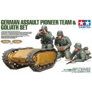 Tamiya 35357 GERMAN ASSAULT PIONEER TEAM & GOLIATH SET w/2-Goliath+3-Figure