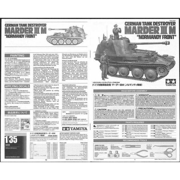 Tamiya 35364 German Tank Destroyer Marder III M Normandy Front