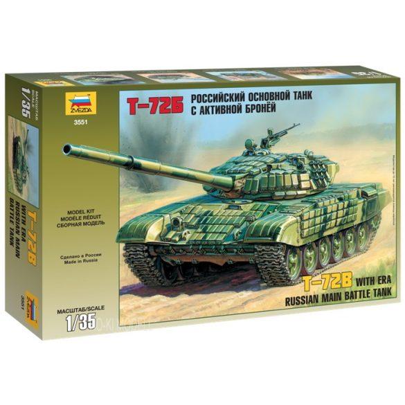 Zvezda 3551 T-72B with ERA Russian Main Battle Tank
