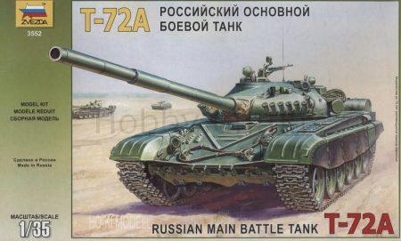 Zvezda 3552  T-72A Russian main battle tank