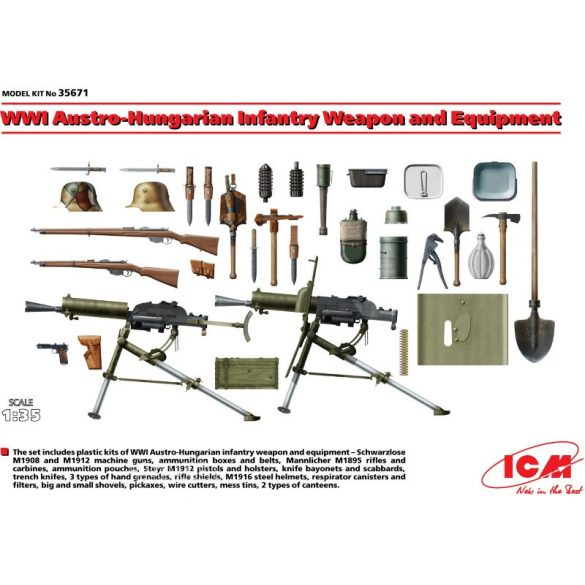 ICM 35671  Weapon and Equipment Austro - Hungarian Infantry WWI