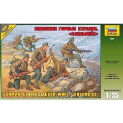 """Zvezda 3599 German Gebirgsjager WWII. """"Edelweiss"""""""