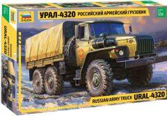 Zvezda Ural 4320 Platós Ponyvás Teherautó