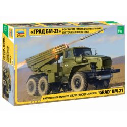 Zvezda 3655 Russian Truck Mounted Multiple Rocket Launcher GRAD BM-21