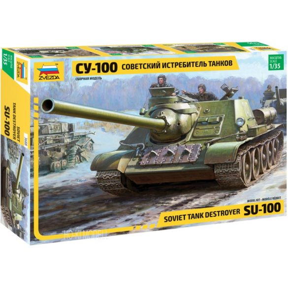Zvezda 3688 SU-100 Soviet Tank Destroyer