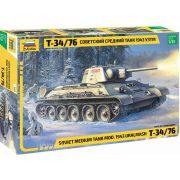 Zvezda 3689 T-34/76 Soviet Medium Tank mod. 1943 Uralmash