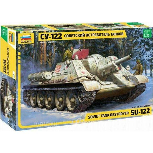 Zvezda 3691 Soviet Tank Destroyer SU-122