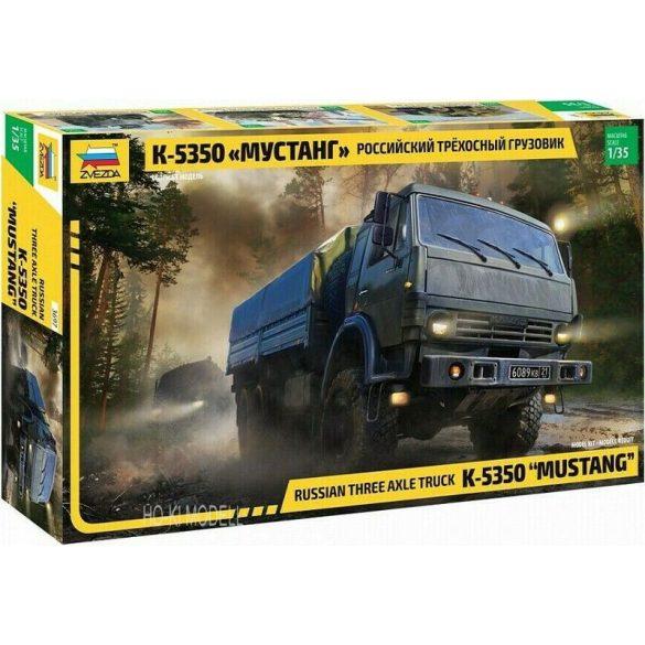 Zvezda 3697 Russian Three Axle Truck KAMAZ-5350 MUSTANG