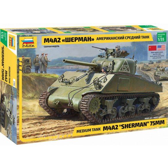 Zvezda 3702 M4A2 Sherman 75mm
