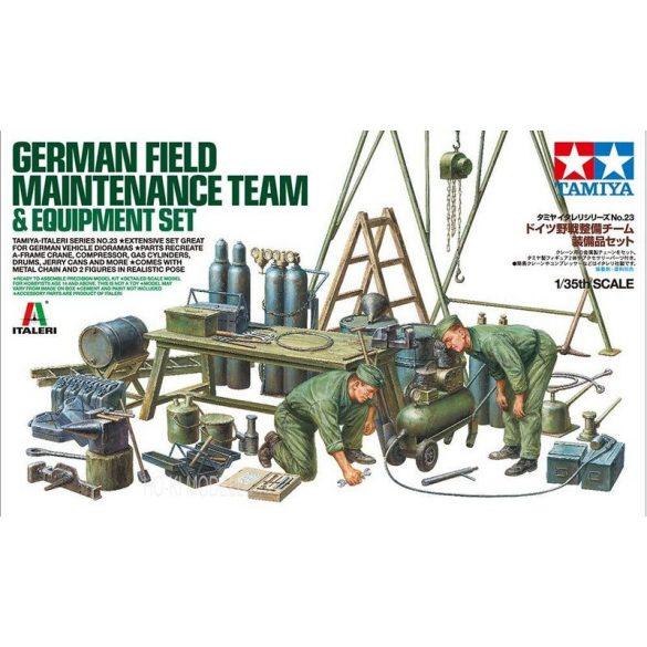 Tamiya 37023 German Field Maintenance Team - Equipment Set