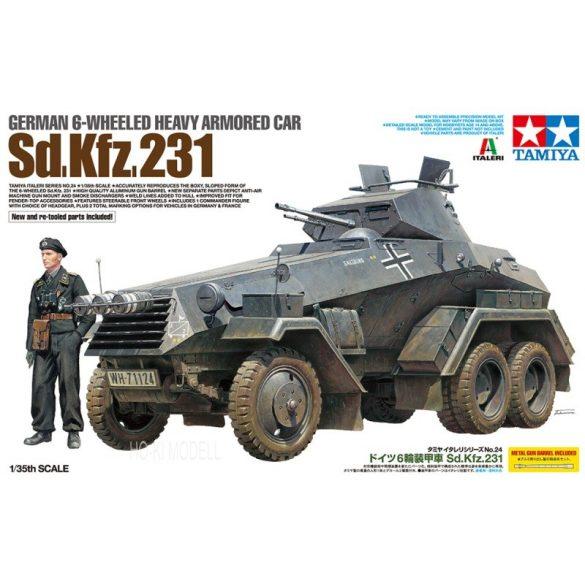 Tamiya 37024 German 6-Wheeled Heavy Armored Car Sd.Kfz.231