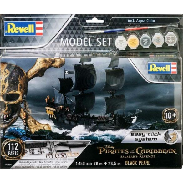 Revell 065499 Pirates of the Caribbean Salazar's Revence Black Pearl - Fekete Gyöngy