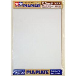Tamiya 70123 Plastic Plate - Műanyag fehér lapok 0.5mm B4méret