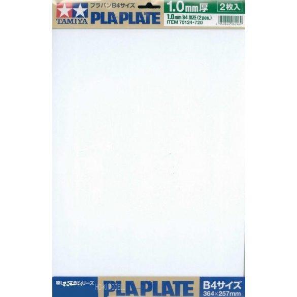 Tamiya 70124 Plastic Plate - Műanyag fehér lapok 1.0mm B4méret