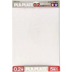Tamiya 70127 Clear Plastic Plate 0.2mm B4 méret  Áttetsző (transzparens) műanyag lap