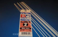 Tamiya 70132 Plastic Round Bar 2mm  (10pcs)