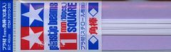 Tamiya 70173  Plastic Square Bar 1mm (10pcs)