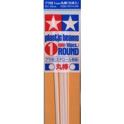 Tamiya 70174  Plastic Round Bar 1mm  (10pcs)