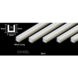 Tamiya 70202 Plastic Beams 3 mm U-Shaped
