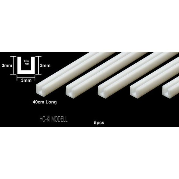 Tamiya 70202 Plastic Beams 3 mm U-Shaped
