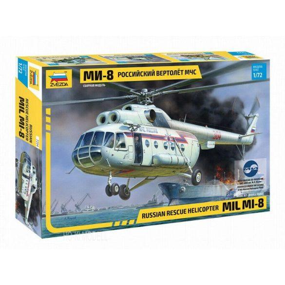 Zvezda 7254 Russian Rescue Helicopter Mil MI-8
