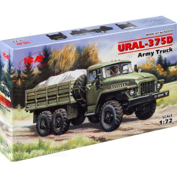 ICM 72711 URAL-375D Soviet Army Truck - Platós Teherautó