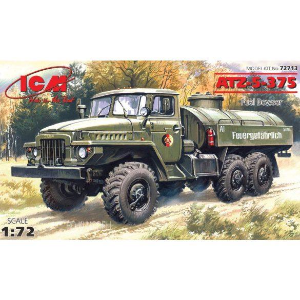ICM 72713  Ural ATZ-5-375  German Tank Army Truck - Üzemanyag Szállító Tartályos Tehergépkocsi